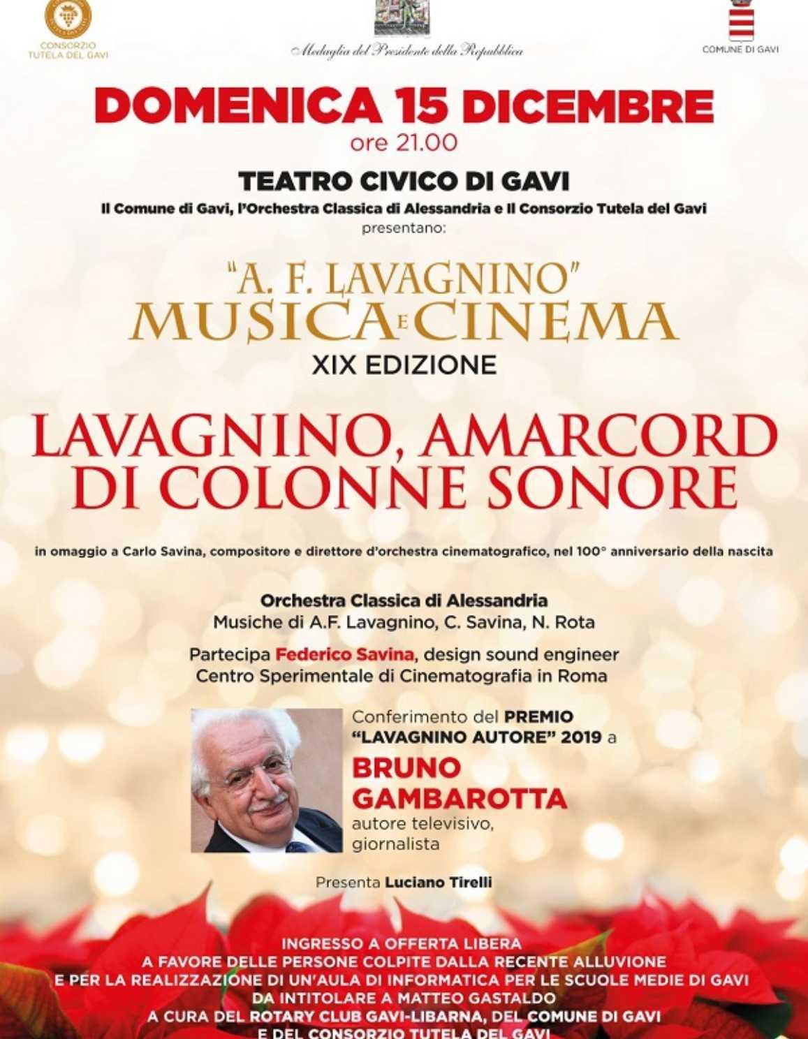 Festival A.F.Lavagnino: Musica e Cinema 2019