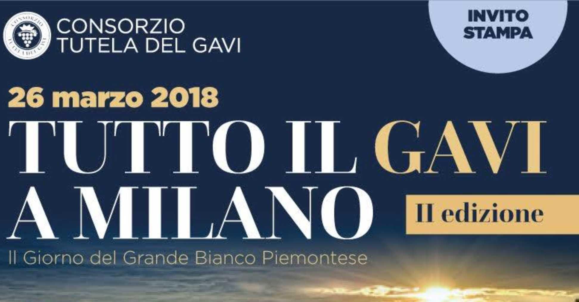 Tutto il Gavi a Milano 2018